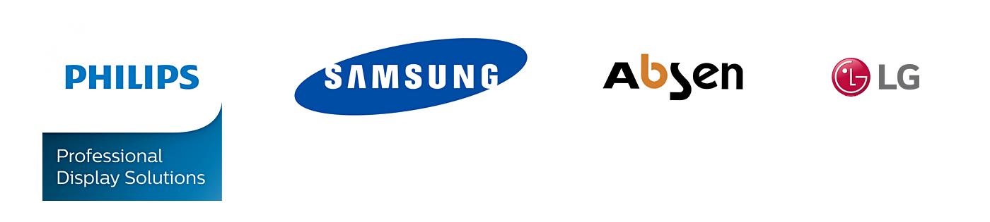 We werken exclusief met de schermen van Philips, LG, Absen & Samsung.